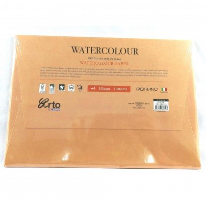 ARTO by CAMPAP CR37318 A4 300GMS 12'S WATER COLOUR PAPER PACK x 1pc
